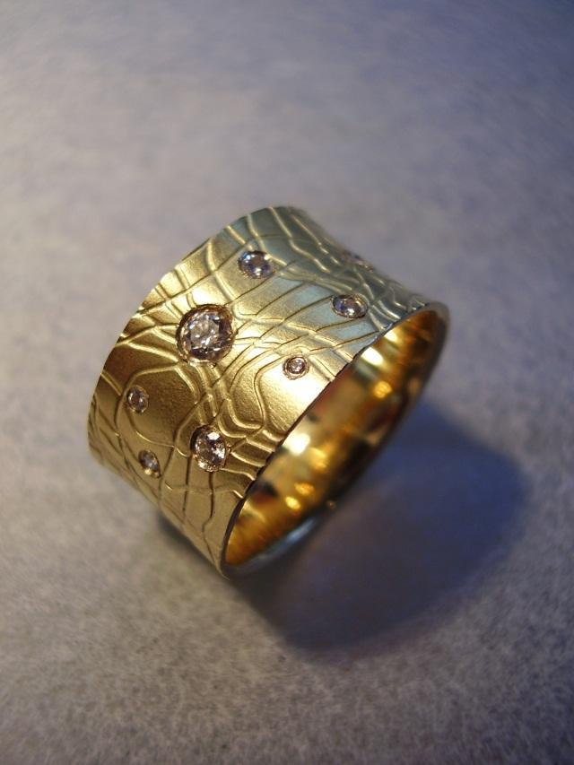 goldschmiede behrens ring print gold 750 mit brillanten. Black Bedroom Furniture Sets. Home Design Ideas