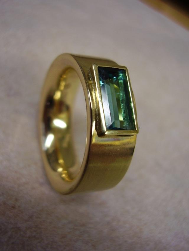 Goldschmiede Behrens Ring Gold 750 Mit Turmalin Baguette